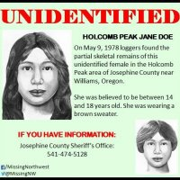 Loggers found the remains of #JaneDoe near Williams, Oregon in 1978.  It is believed she was just a teenager!  #Unidentified