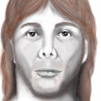"VERY tall #JohnDoe (6'5"") was red-haired & discovered washed on the shore of Cape Lookout State Park on the evening of Aug 8, 1991."