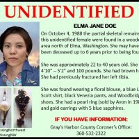 #JaneDoe was found in a remote wooded area, off a logging road north of Elma, WA on October 24, 1988