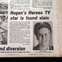 WHO KILLED BOB CRANE?  Decades later, the murder of the Hogan's Heroes star remains a mystery to many people!