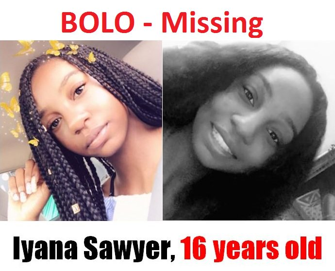 IYANA SAWYER: Missing from Jacksonville, FL since 19 Dec 2019 - Age 16