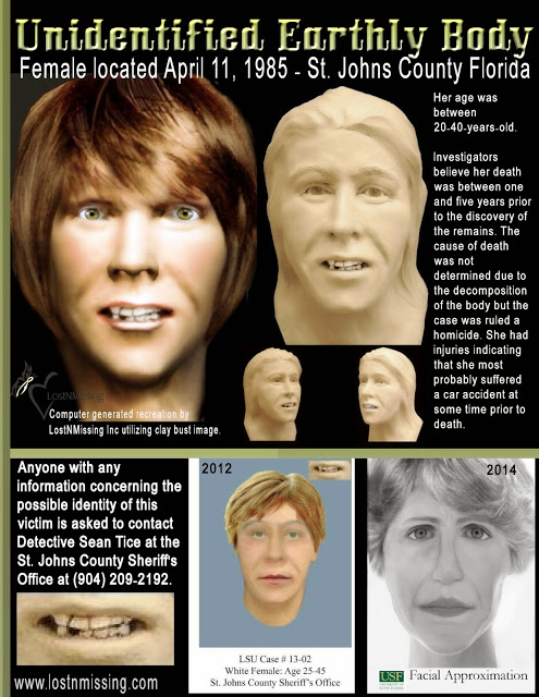 On April 11, 1985, workers discovered #JaneDoe floating in Crescent Beach, #FLORIDA and called authorities.  WHO WAS SHE?